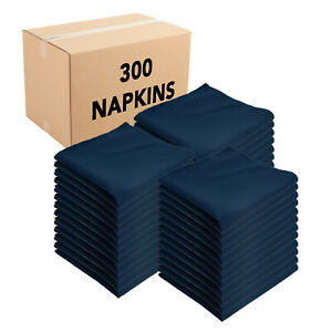 Case of 300 Poly-Spun Cloth Dinner Napkins, 20 x 20, Colors, For Weddings, Party