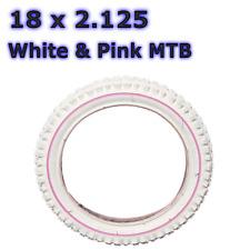 1 x Purple Tyre with White Line 18 x 2.125 Bike Bicycle