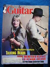 Guitar Player Magazine March 1984 Talking Heads Tina Weymouth  David Byrne