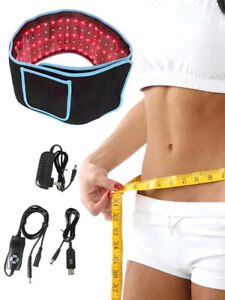 Red LED Light Therapy Pain Relief Laser Waist Weight Loss Belt Body Slimming