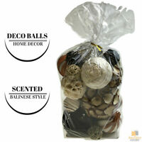 Large Set of Scented DECO BALLS Bali Home Decor Rattan Cane Wicker Balinese
