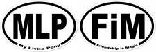 MLP & FiM Set My Little Pony Friendship is Magic Oval Bumper Stickers Euro Brony