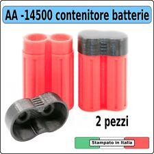 Box contenitore batterie AA 14500 outdoor  Battery holder shell Protezione case