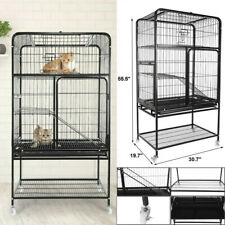 New listing Luxury 3-Tier Cat Ferret Cage Portable Large Home Fold Pet Animal Cage Playpen.