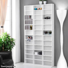 1116 CD Storage Shelf Bookcase Rack DVD Media Video Game Shelving Tower Stand
