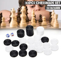 32Pcs+2 Dice Chess Pieces for Draughts&Checkers&Backgammon Gaming Player  ZLL!