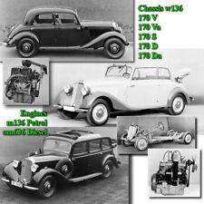 Mercedes Benz Service Workshop Repair Manual w136 170 V Va S D Da 1935-1955