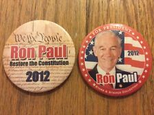 "2 Different 3"" 2012 Ron Paul For President Restore The Constitution Buttons"