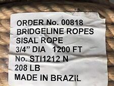Bridgeline Sisal Rope 3/4 X 1200 Ft