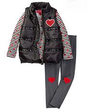 Betsey Johnson 3 Piece Set Size 2T Toddler Girls Vest Top Leggings NWT Msrp $64