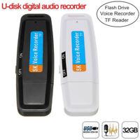 Mini USB 2.0 Digital Pen Audio Voice Recorder Dictaphone 8GB Flash Drive U-Disk