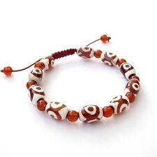 Tibet Agate Gem Heaven Eye Beads Buddhist Prayer Bracelet Mala