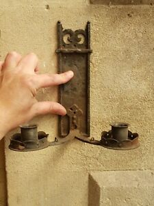 Vintage-Gothic Style Wall Mounting 2 Sconce Steel Candle Holder/Candle Stick