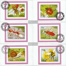 Sharjah Block1204B-Block1209B fine used / cancelled 1972 Insects