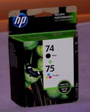 Genuine HP 75 & 74 Tri-Color & Black CC659FN Ink Cartridge Combo Pack-New Sealed