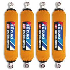Yellow Suzuki Shock Covers Eiger 4x4 4WD Vinson Quadrunner 250 400 500 (Set 4)