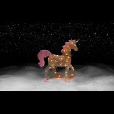 "36"" Pre-Lit Acrylic Unicorn Christmas Holiday Lights Outdoor Yard Lighted Decor"