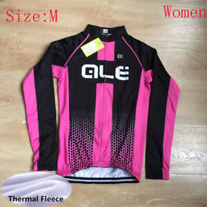 Cycling Jersey Women Winter Bike Long Sleeve Shirt Thermal Fleece Bicycle Tops M