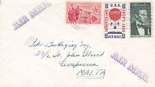 United States 1959 Boston to Malta Air Mail Cover VGC