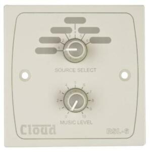 CLOUD RSL-6W REMOTE SOURCE SELECTOR LEVEL CONTROL WALLPLATE