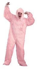 Pink Gorilla  Funny Humorous Adult Costume Monkey Comical Openings Halloween