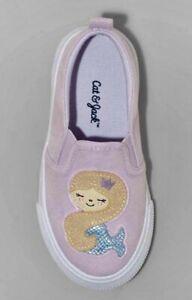 Cat & Jack Toddler Girls' Shasta Twin Gore Slip-On Mermaid Sneakers - SIZE 6