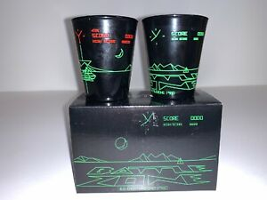 Loot Crate Retro Gaming Battlezone 1980 Set of x2 Shot Glasses NEW & BOXED