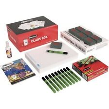 Show Me Plain Whiteboards Set of 35 with Pens & Erasers  Class Pack