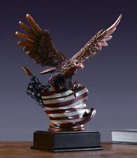 "Bronze Finished Eagle Sculpture Statue 10""W x 12.5""H"