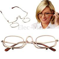 7 SIZE Rotating Magnifying Makeup Reading Glasses Eye Glasses Flip Folding Women