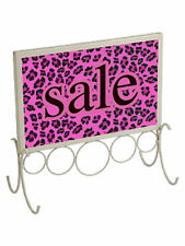 """Countertop Sign Holder 11"""" x 11 ¼� Fits 7"""" x 11"""" Signs Ivory Retail Store Sale"""