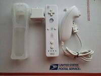 Nintendo Wii Controller Wiimote with Motion Plus Attachment and Nunchuck Bundle