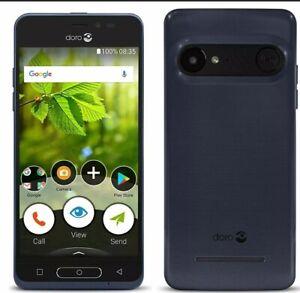 "Doro 8035 4G 5"" Smartphone 16GB Storage Unlocked SIM Free - Metallic Blue GB"