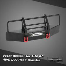 Metal Front Bumper + Trailer Buckle for 1/10 RC4WD D90 RC Rock Crawler HOT Z5V3