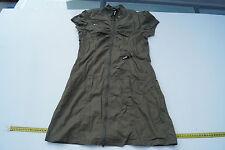 BENCH Damen Bluse Kleid Blusenkleid Longbluse Tunika Gr.S khaki olivgrün TOP #t