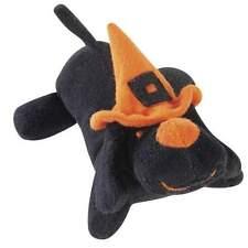 "Zanies SPOOKY BIG YELPER Dog Toy Puppy Soft Plush BLACK Squeaker Halloween 7"""