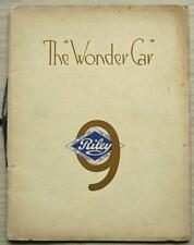 RILEY 9 Car Range Sales Brochure For 1930 MONACO Biarritz SUNSHINE Brooklands ++