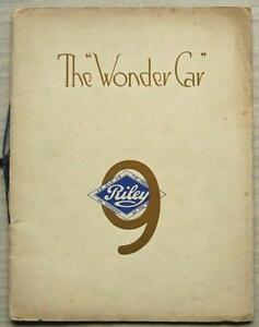 RILEY 9 Car Range Sales Brochure For 1930 MONACO Biarritz SUNSHINE Brooklands ++