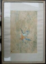 Vogel Studie Aquarell auf Papier  um 1950