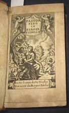 1680 Il Pastor Fido - Le berger Fidelle, Francese. Incisioni.  Molto raro.