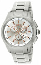 Relojes de pulsera de acero inoxidable plateado de acero inoxidable cronógrafo