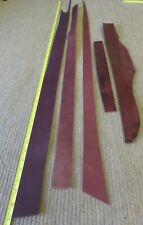 """5 BROWN BRIDLE  LEATHER PIECES    3 - 3.5mm THICK -  CLEARANCE - MAX LENGTH 49"""""""