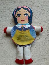 Vintage Snow White Cloth Story Book Doll