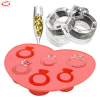 Diamond Ring Ice Cube Tray Silicone Freeze Jelly Pudding Mold Chocolate Mould