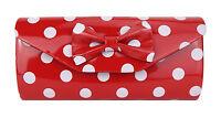 Rockabilly Tasche rot weiß Punkte by Ella Jonte kleine rote Handtasche Clutch