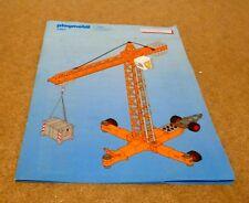 Playmobil 3262 grúa de construcción electrónica para obras-Folleto de instrucciones