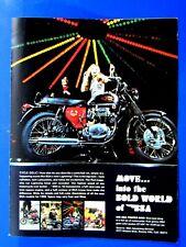 """1968 Bsa Lightning 650 Bold World Of Bsa Original Print Ad 8.5 x 11"""""""