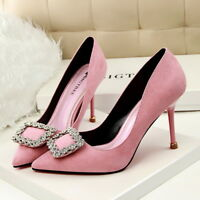 Women Sexy Pumps Stiletto Suede Pointed Toe High Heel Party Wedding Ladies Shoes