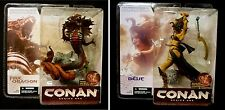 McFarlane Toys Conan  Series 1 Fire Dragon & Belit Figure Set New from 2004