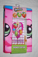 Fabric Shower Curtain SHOPKINS Apple Strawberry Cupcake Popcorn Sneaker 72x72""